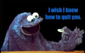 cookie monster can't quit cookies