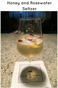 Honey and Rosewater Seltzer