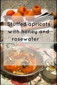 Try delicate stuffed apricots with honey and yogurt.