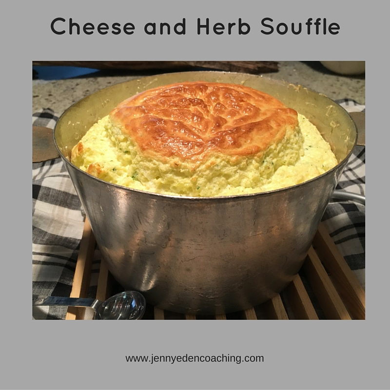 cheese and herb souffle