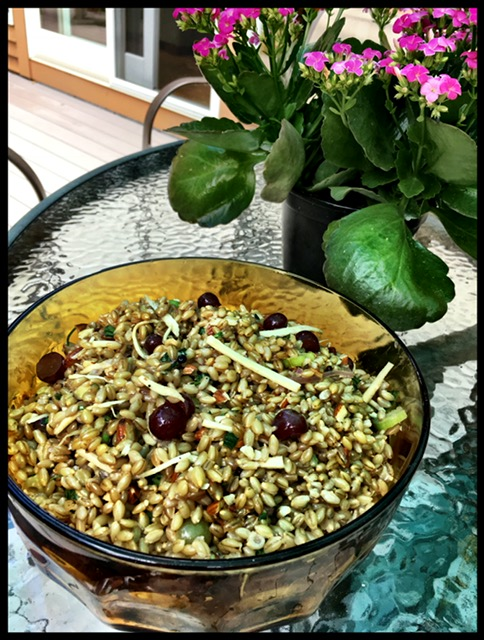grape and barley salad